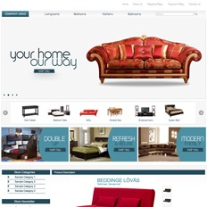 An ad template for a furniture website that states