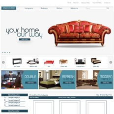 A sample website of a furniture company that says