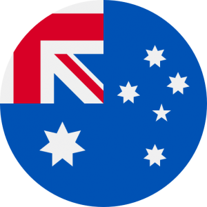 An icon of a circle-cropped photo of the Australian flag