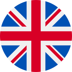An icon of a circle-cropped photo of the Union Jack, the flag of the United Kingdom