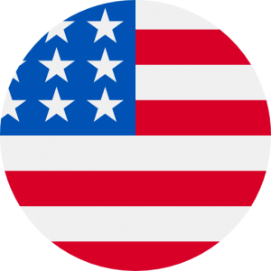 An icon of a circle-cropped photo of the flag of United States of America