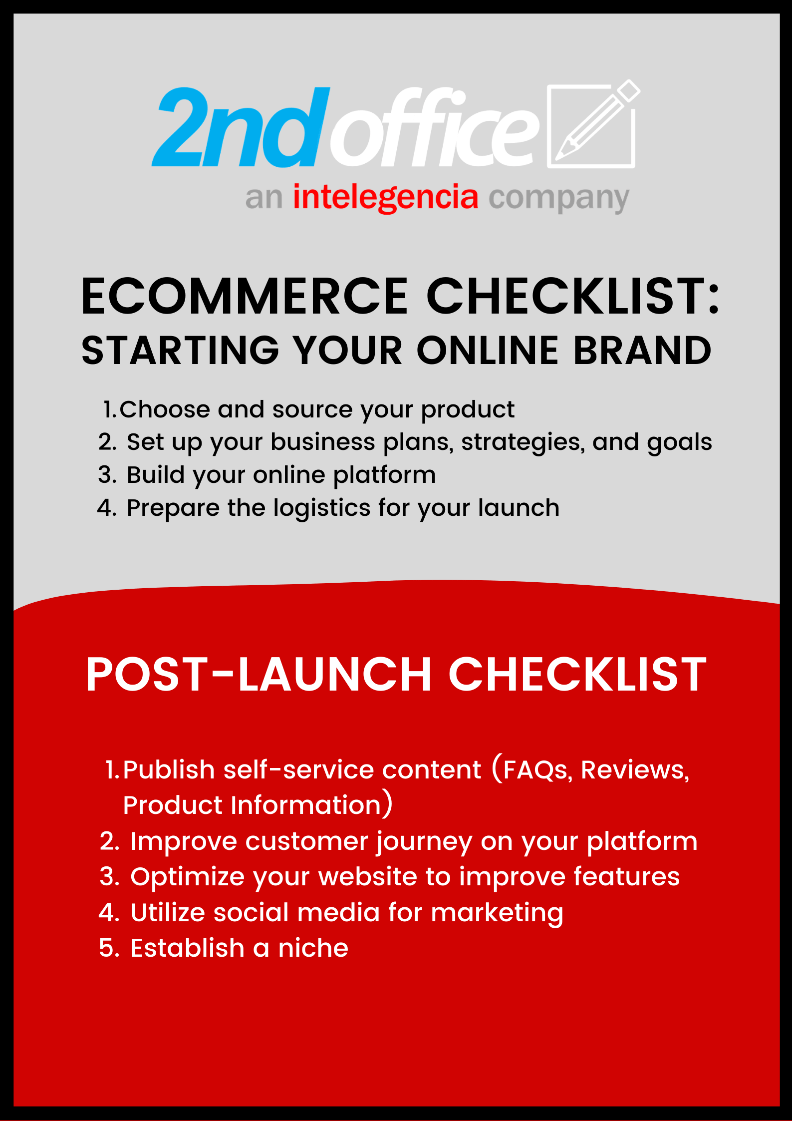 Ecommerce checklist for launching your online brand